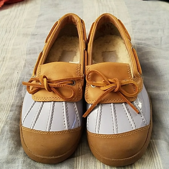 0263f54aa24 UGG Haylie UGGpure Lined Boat Shoes Duck Rain Flat